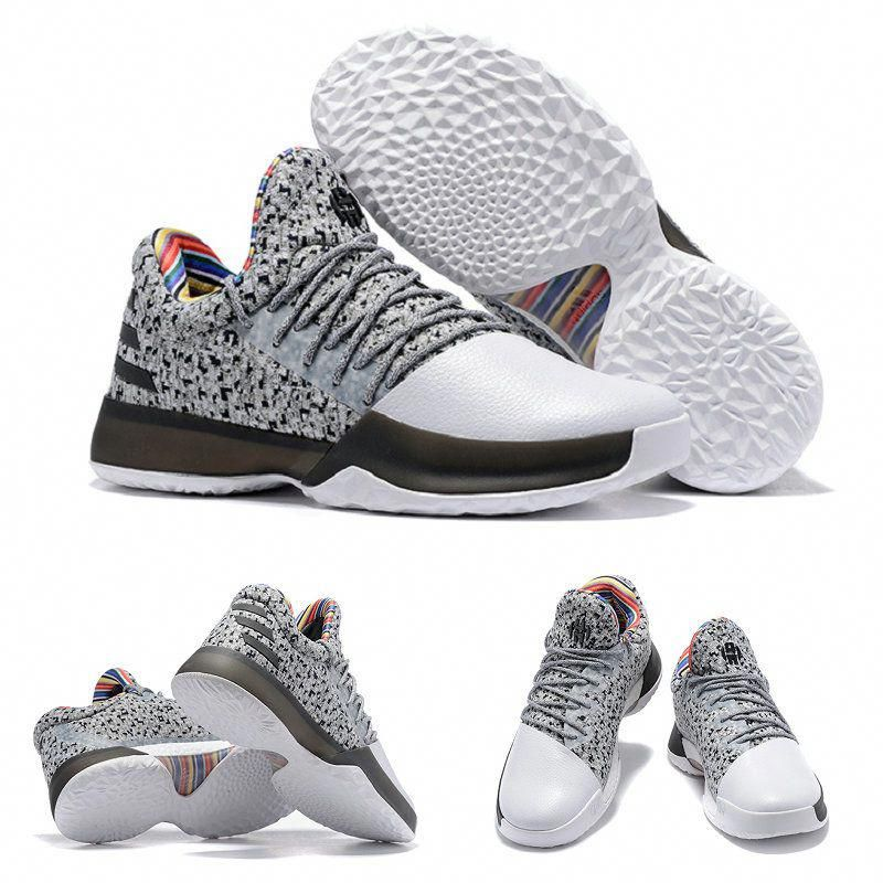 ab6b76a2e69d Harden James BHM adidas Harden Vol. 1 Black History Month Wolf Grey Rainbow Black White  Basketball Shoes  basketballshoes