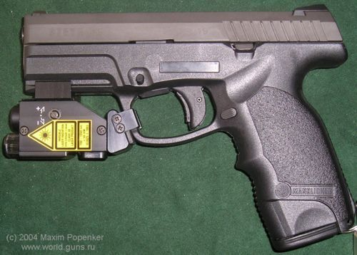 Steyr M-1A in 9mm caliber, version with manual safety Safety is - safety manual