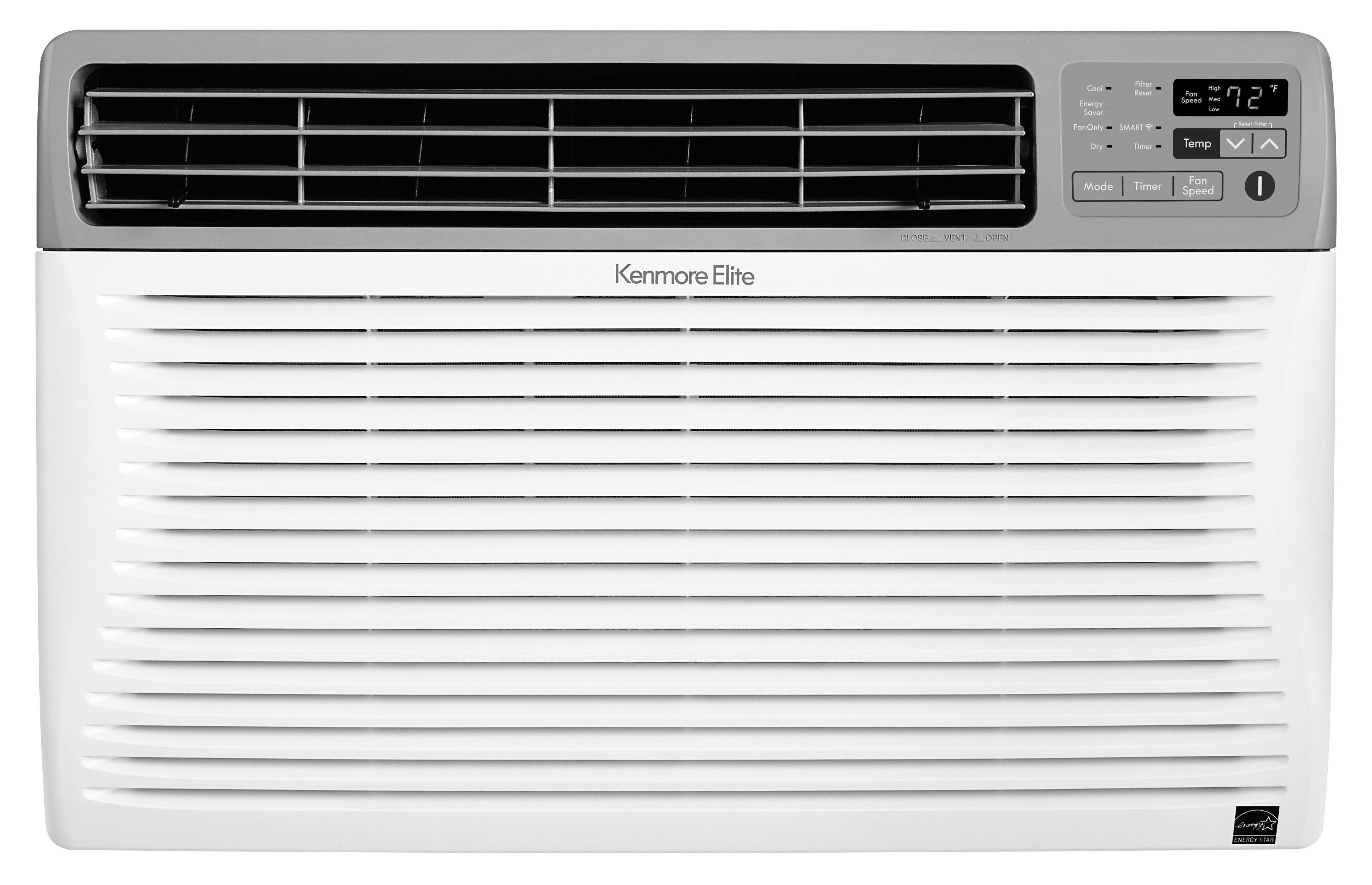 Kenmore Elite 77107 10 000 Btu Smart Room Air Conditioner Window Air Conditioner Best Window Air Conditioner Window Accessories
