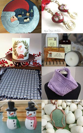 Holiday Gift Ideas by Sandy Lamontagne on Etsy #holidaygiftideas #Maineteam #ChristmasGiftIdeas