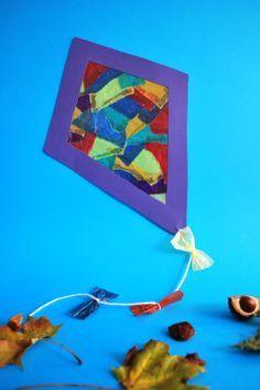 Drachen aus schnipseltechnik sanni pinterest drachen for Basteln herbst kindergarten