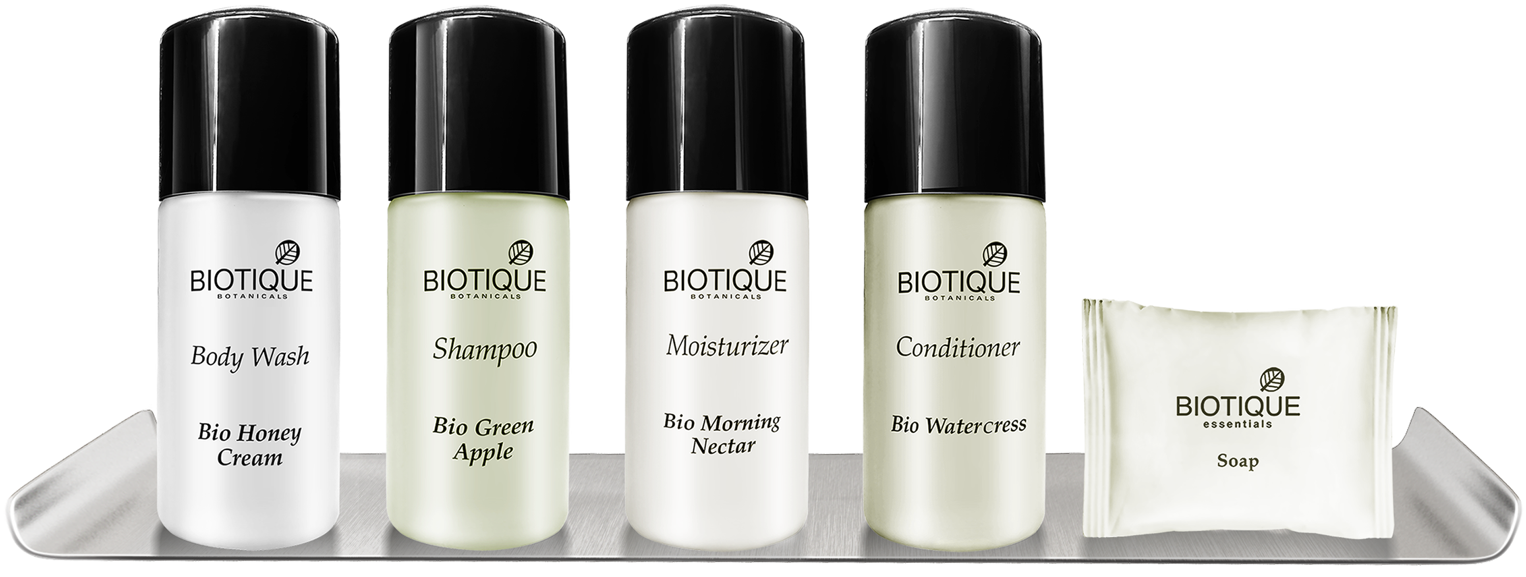 Hotel amenities by Biotique include haircare, skincare and