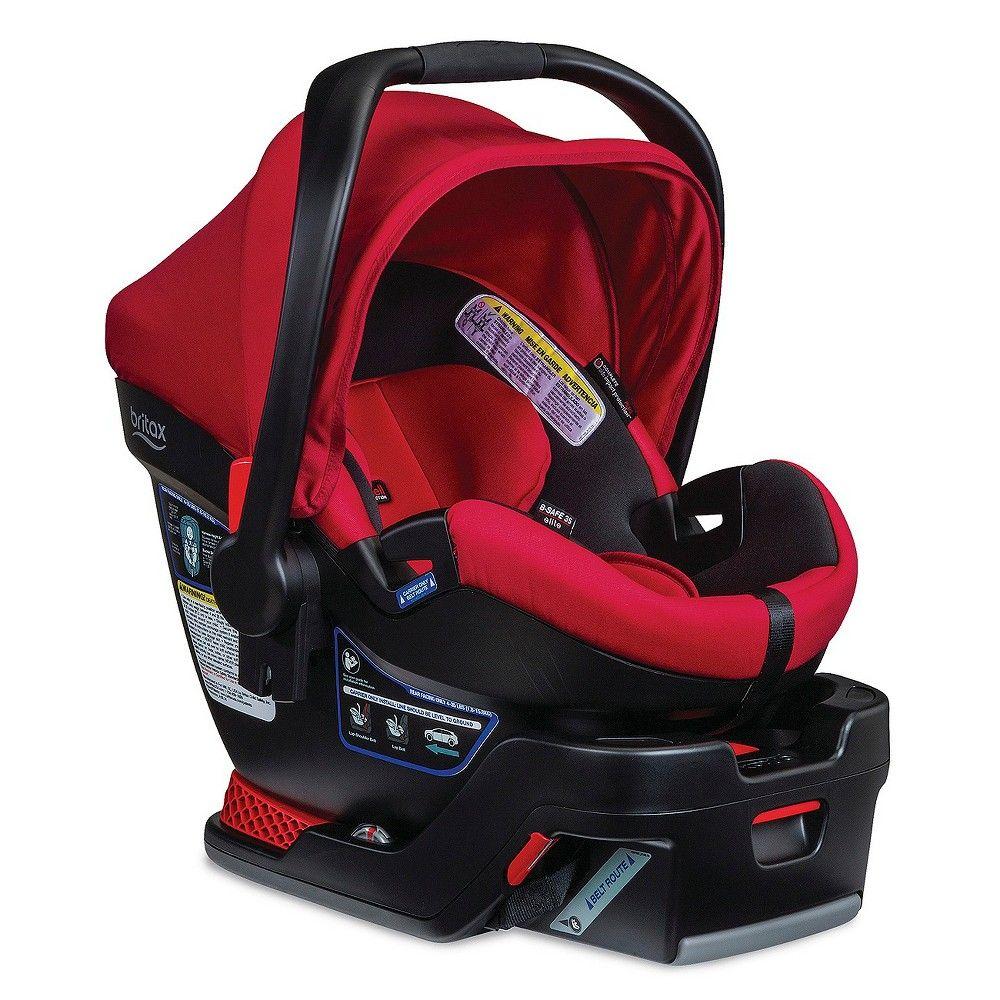 Britax bsafe 35 elite infant car seat red pepper