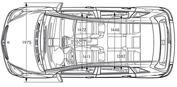 mercedes-benz b-klasse (t 245) - abmessungen & technische daten