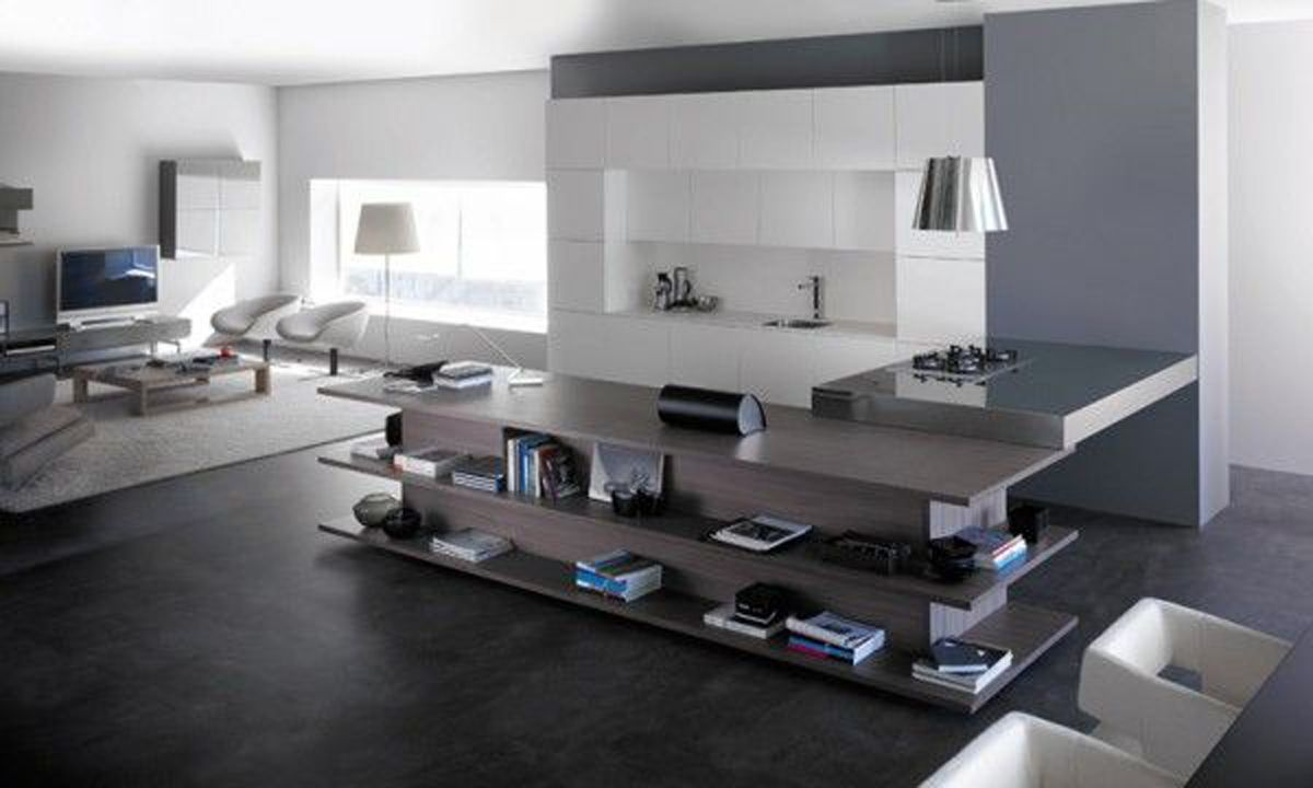 Integrated Living Room and Kitchen, Innovative Interior Ideas ...
