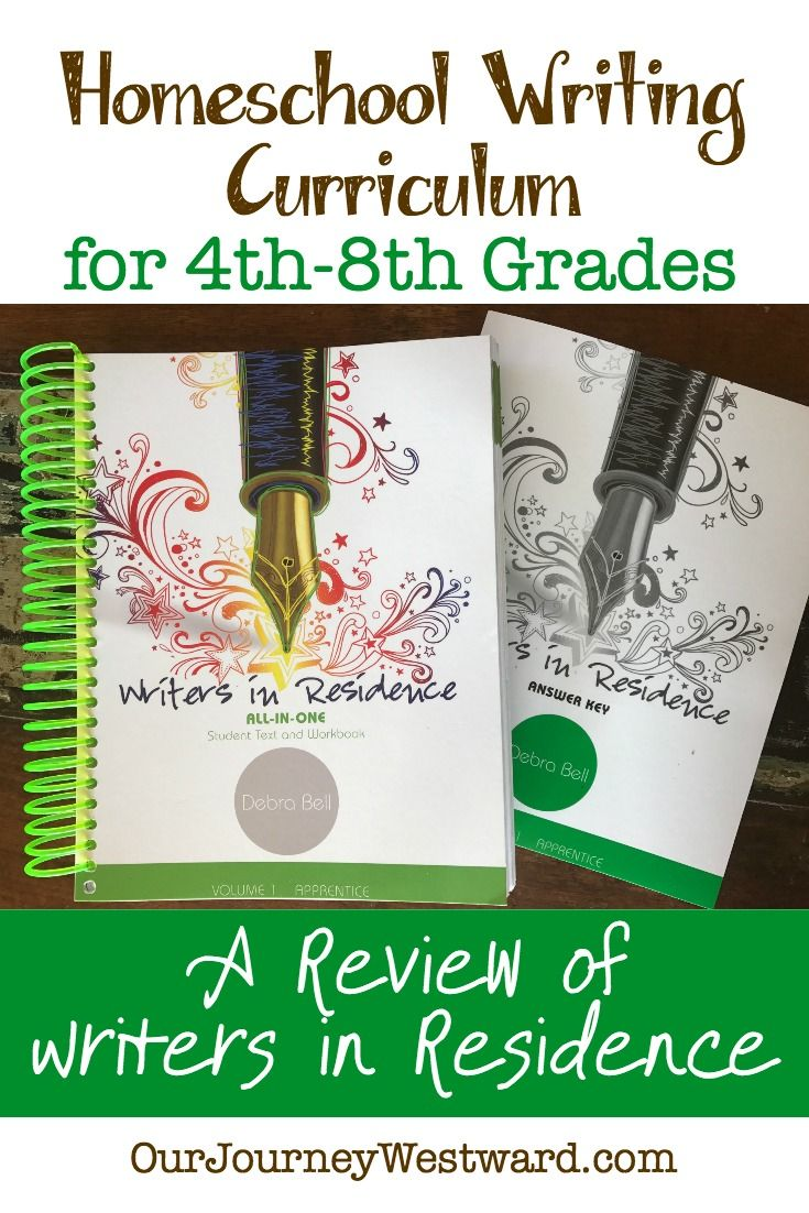 Homeschool Writing Curriculum Writers In Residence Review Grades 4