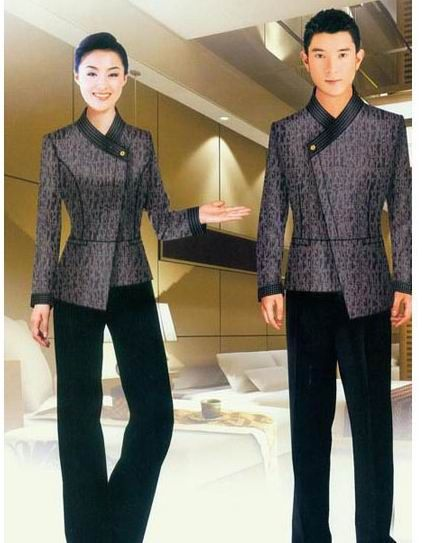 China demure housekeeping uniform for hotel hu 14 china for Hotel uniform spa