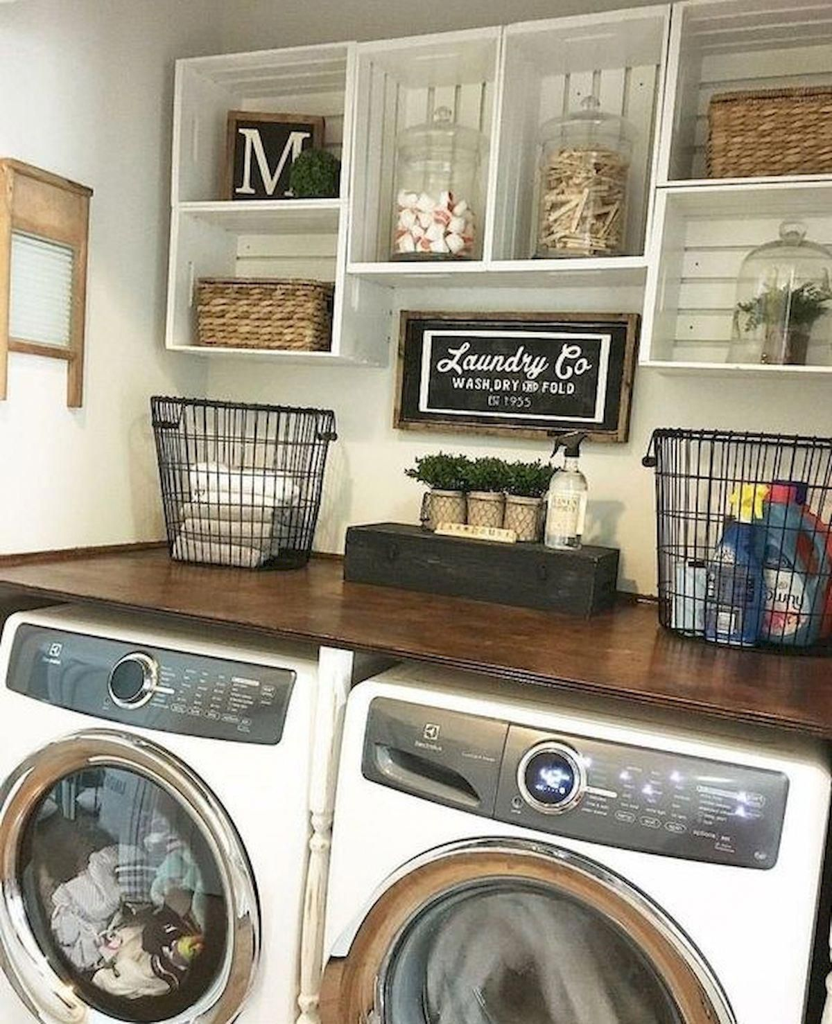The Shower Curtains Can Match Your Restroom S Theme For Added Charm Select A Shower Drape Liner Tha Remodel Bedroom Tiny Laundry Rooms Farmhouse Laundry Room