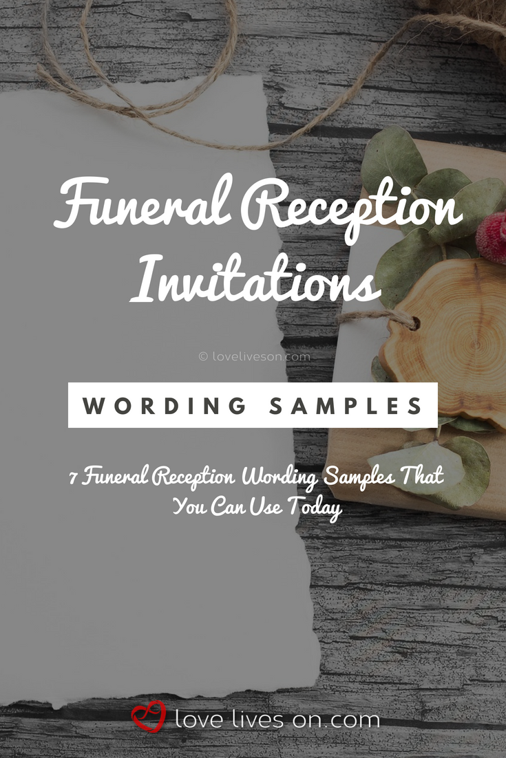 Funeral Reception Invitations Click For 7 Free Wording Samples For Funeral Reception Invitations Funeral Reception Reception Invitations Funeral Invitation