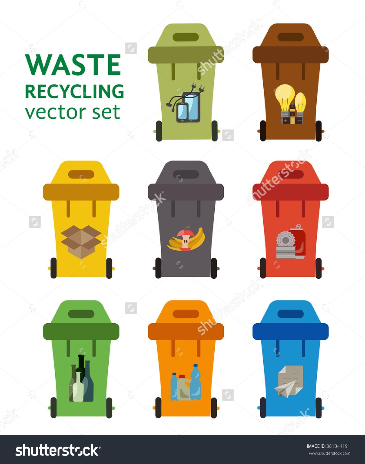 Colorful Garbage Cans Pin By Hanadi Albahrani On Hanadi Garbage Can Recycling Bins
