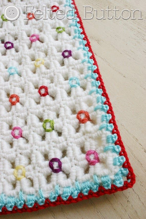Felted Button - Colorful Crochet Patterns: Crazy Good Mat & Blanket ...