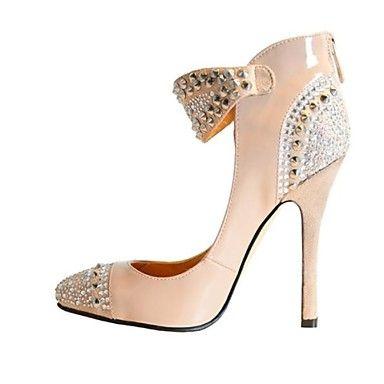 Fashion Patent Leather Women's Stiletto Heel Ankle-Strap Pumps Party Shoes