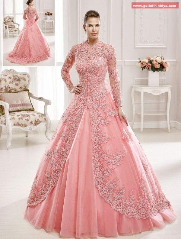 b231c28d0678b Nişanlık Abiye Modelleri | Pink in 2019 | Muslim evening dresses ...