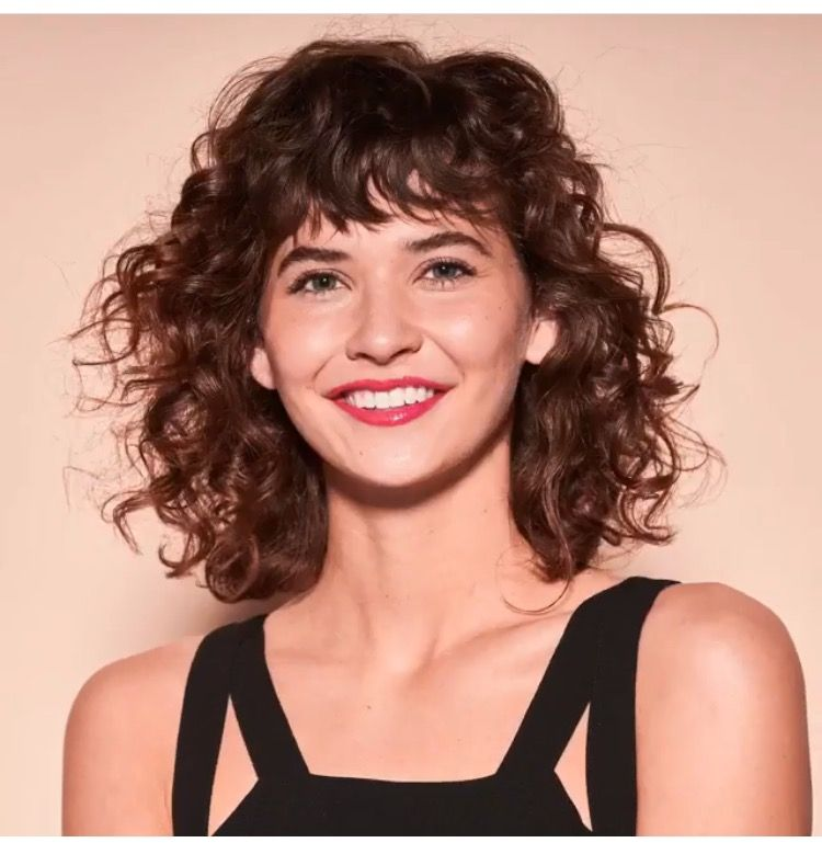 Curly hair with bangs | Hair Styles & Care | Pinterest ...