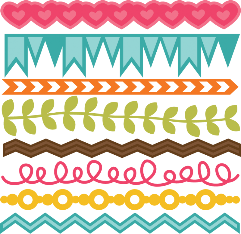 So LUCKY to know you! Chevron borders, Scrapbook borders
