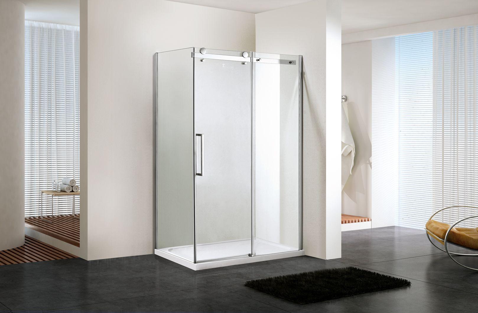 Buy Corner, Quadrant, Frameless, Glass, Custom, Walk in Shower ...