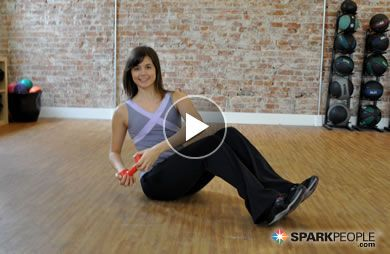 NO EXCUSES! This 20-minute dumbbell workout works every muscle from head to do. You DO have time for this--and you don't even have to leave home! | via @SparkPeople #fitness #exercise #video