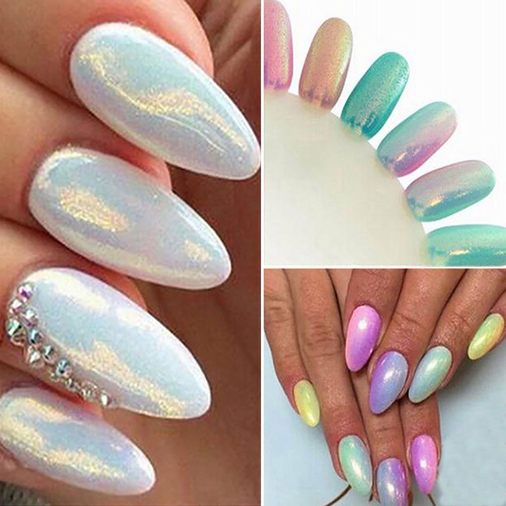 CH Shinning Nail Art Mirror Powder Chrome Pigment Glitters Manicure ...