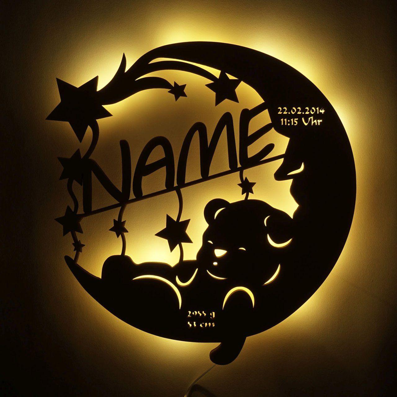 Nachtlicht Schlafender Bar Im Mond Schlummerlicht24 De Schlummerlicht24 De In 2020