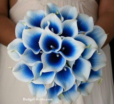 Blue Calla Lily Bouquet Blue Wedding Bouquet Calla Lily Wedding Calla Lily Wedding Flowers