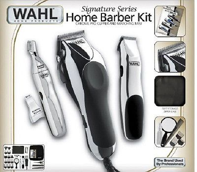 Wahl 30 Piece Hair Cut Home Barber Kit Trimmer Clipper Signature