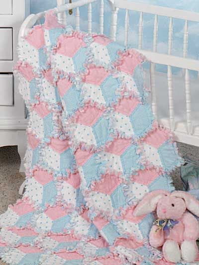 An Adorable Quilt This Is A Free Pattern All You Have To Do Is Sign Up For The Website Free Baby Quilt Patterns Tumbling Blocks Quilt Rag Quilt