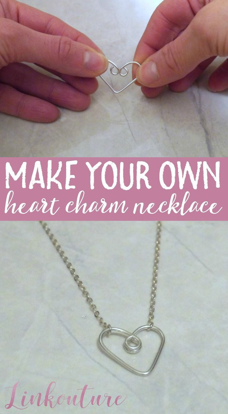 The simplest wire diy heart pendant necklace you can make at home learn how to make your own gorgeous handcrafted heart charm necklace the perfect gift idea aloadofball Gallery