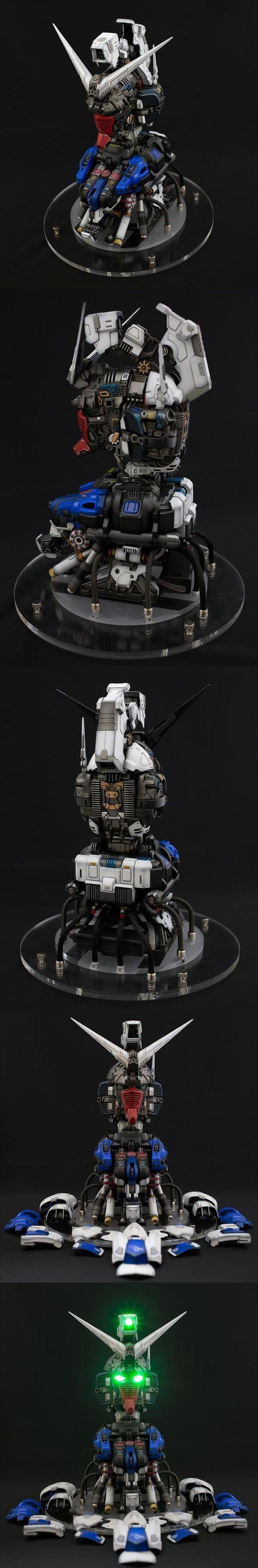 しんちゃん's AMAZING 1/20 Gundam Head RX-78GP04G GERBERA FULL HATCH OPEN, w/LEDs. FULL REVIEW, info