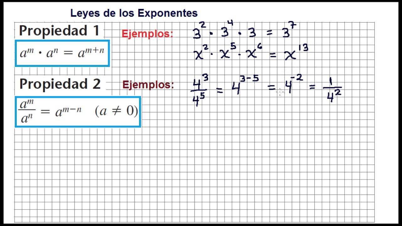 LEYES DE LOS EXPONENTES. Ejercicios - laws of exponents | Educación ...