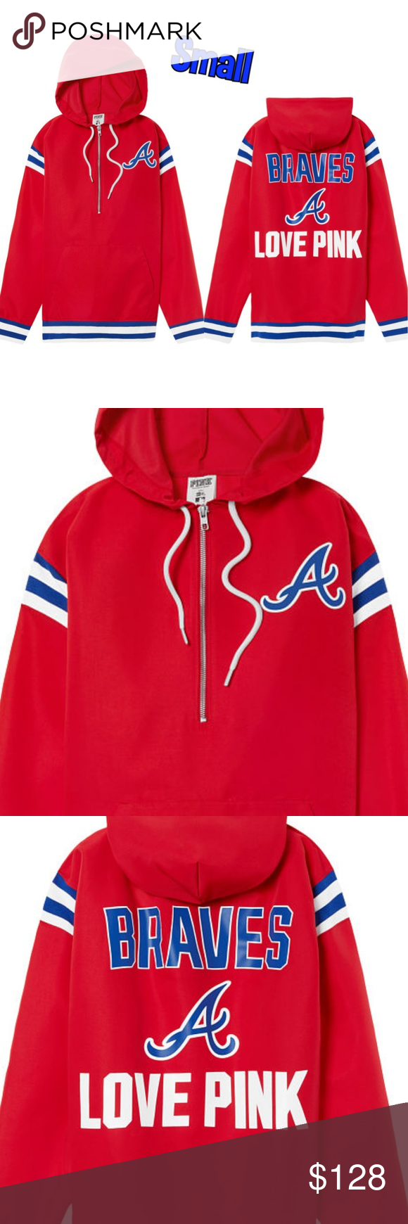 New Vs Pink Atlanta Braves Anorak Windbreaker Super High Quality Material The Most Amazing Anoraks I H Ave Ever Seen Clothes Design Anorak Fashion Design