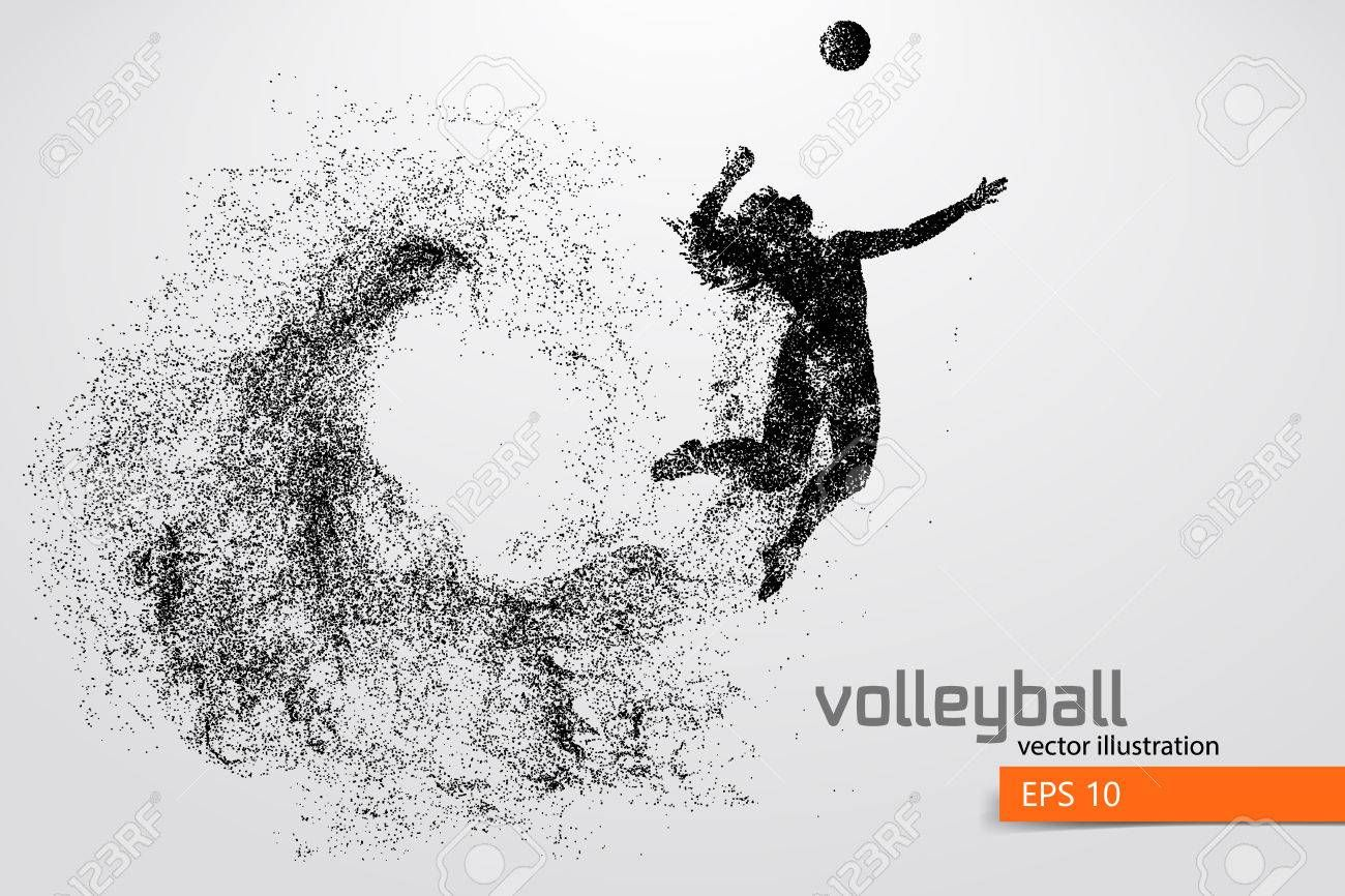 Silhouette Of Volleyball Player Ad Silhouette Volleyball Player Map Art Illustration Vector Illustration Illustration