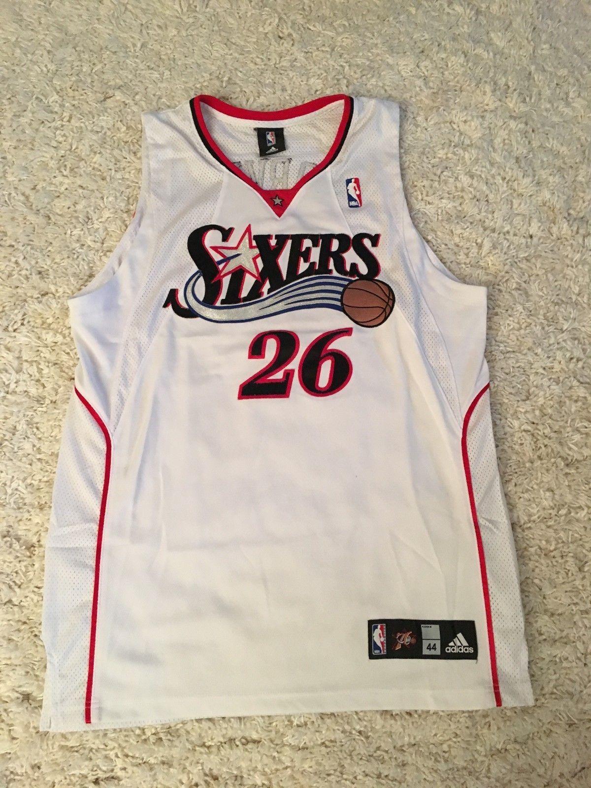 490b0dcf0c9 ... clearance kyle korver philadelphia 76ers sixers authentic adidas jersey  size 44 ebay link 6dd97 e8e44