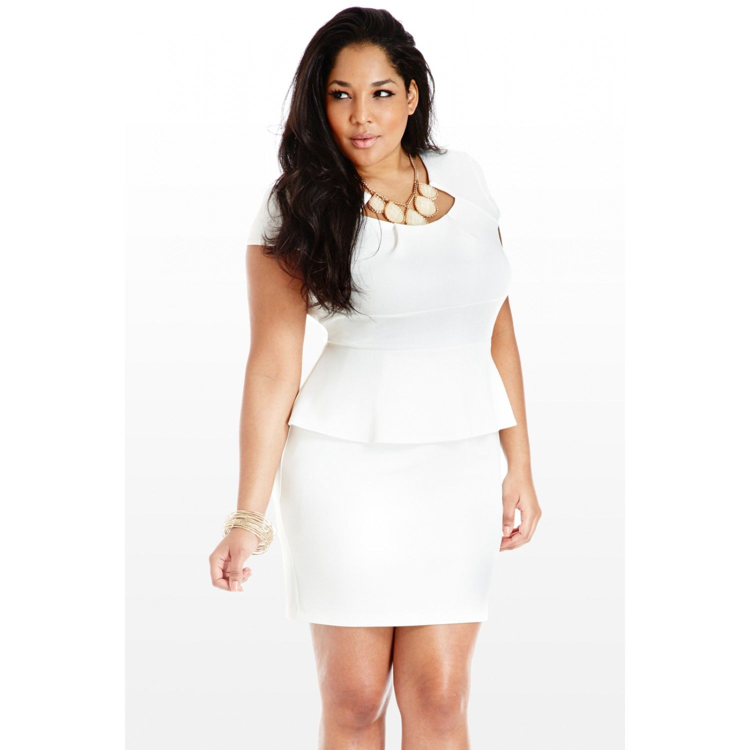 plus-size-white-peplum-dress-best-type-tagged-with-plus-size-white ...