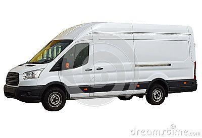 A Ford Transit Van As Used By White Van Man For Deliveries Isolated On A White Background And With Png File Attached With A Clear White Vans Van Ford Transit