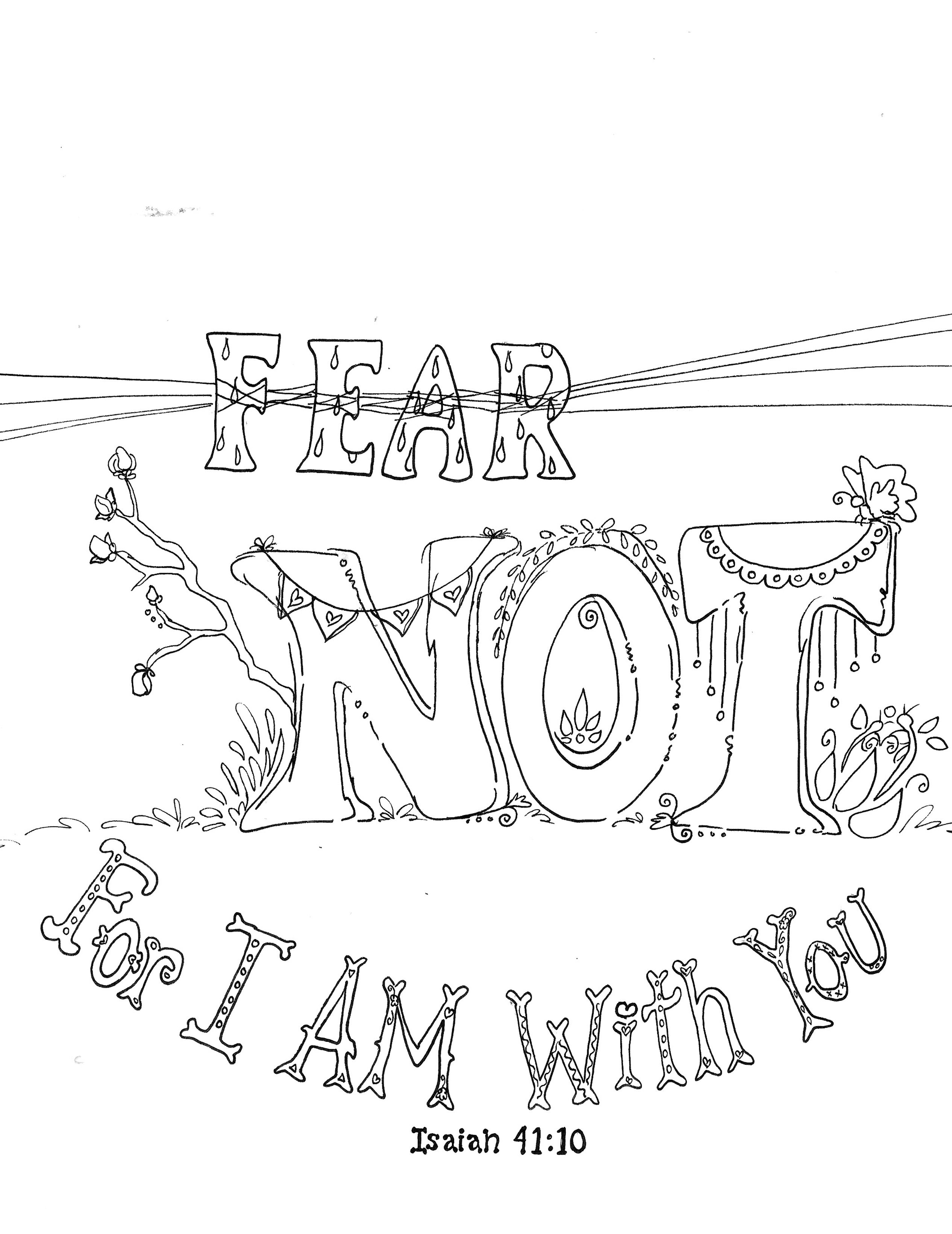 Lord You Always Make A Way To Escape Fear Not XoxFREE Scripture Coloring Pages Printable 8x10 Zenspirations Color And Reflect On The Bible Gods