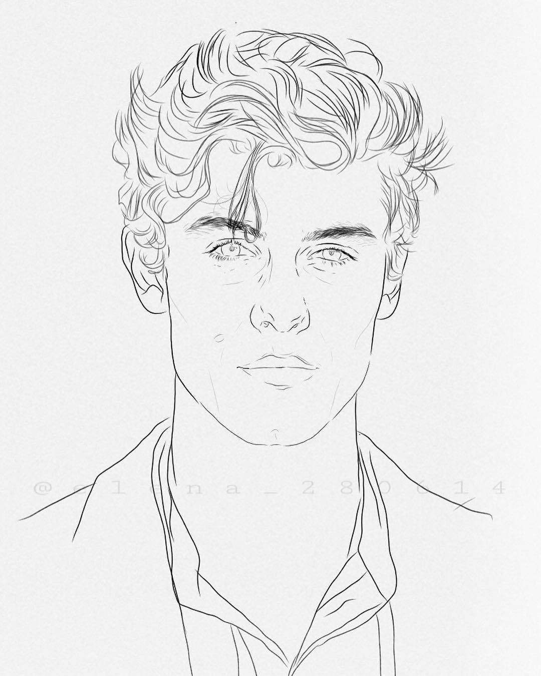 Shawn Mendes Coloring Pages