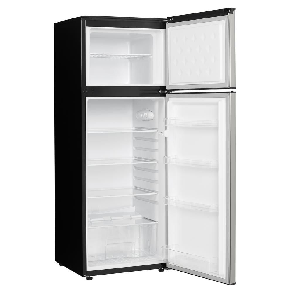 Danby 73 cu ft top freezer refrigerator in stainless