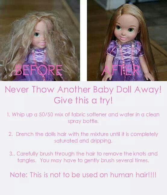 Tangled Doll Baby Hair Detangler This Is The Exact Doll I Need This For Fix Doll Hair Doll Hair Detangler Doll Hair