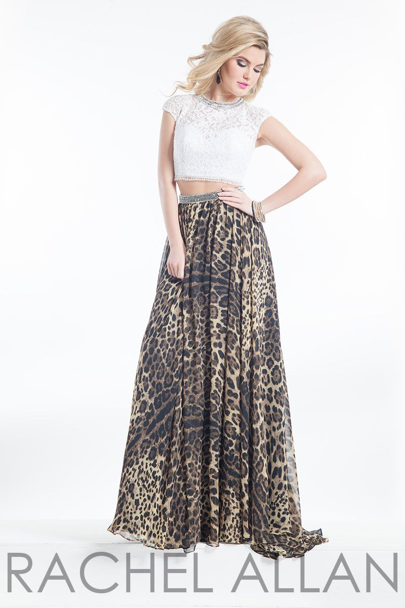 Animal Prints. Roaring feminine appeal exudes from the Rachel Allan 9002  prom dress 23f09eb04