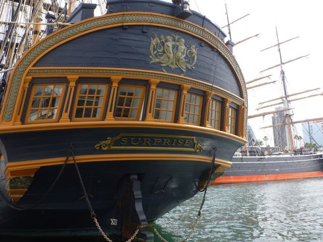 The Exterior Of The Captain S Cabin Of The Surprise A