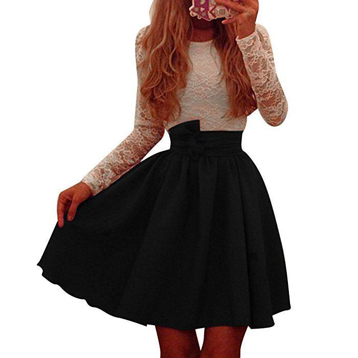 Pinkyee Damen Kleid Gr S Schwarz Jugendweihe Kleider Kleider Damen Kleidung