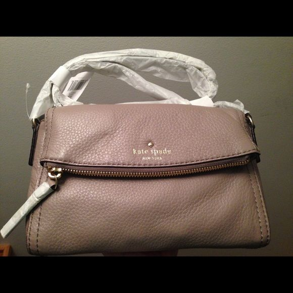 Kate Spade Cobble Hill Mini Carson Brand New With Tag Care Card And Dustbag Warm Putty Color Smoke Free Pet Home Bags Crossbody
