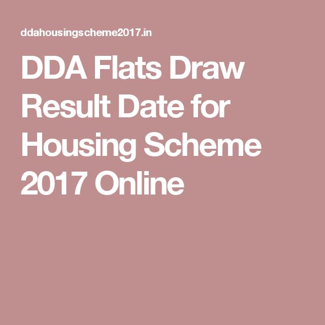 DDA Flats Draw Result Date for Housing Scheme 2017 Online | Schemes ...