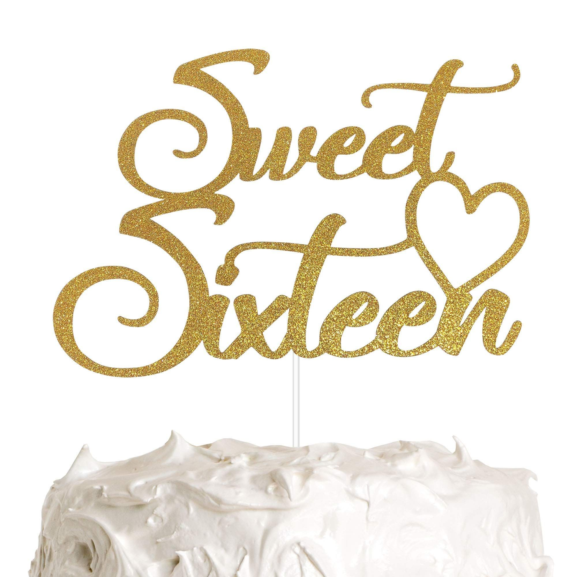 Sweet Sixteen Cake Topper 16 Geburtstag Cake Topper Alles Gute