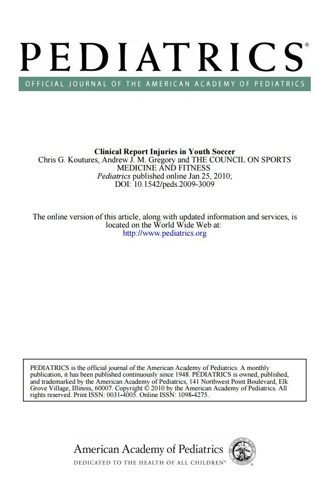 Clinical Report of Injuries in Youth Soccer Sports Injury - training report