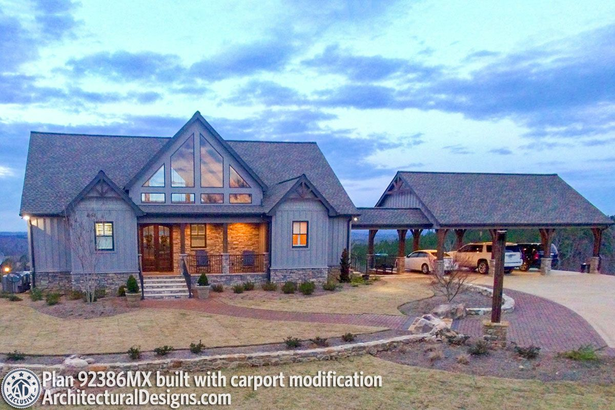 Plan 92386MX: Exclusive Mountain Home Plan with 2 Master Bedrooms