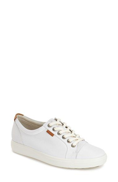 Free shipping and returns on ECCO  Soft 7  Cap Toe Sneaker (Women ... cc22126ad5a5