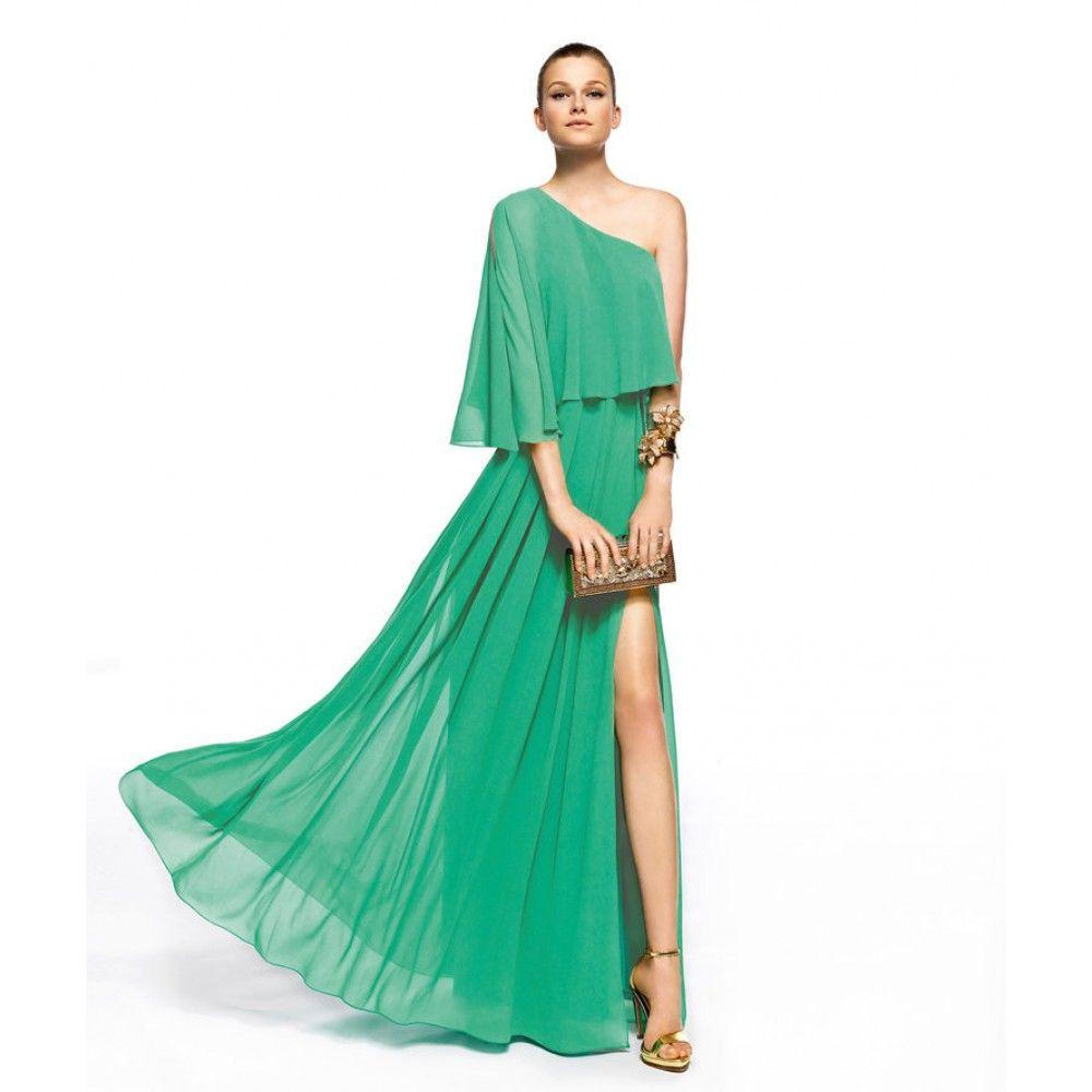 Images of Green Long Dress - Reikian