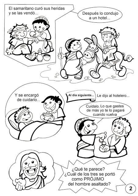 Pasatiempos sobre la Parábola del Buen Samaritano: Fuente ...
