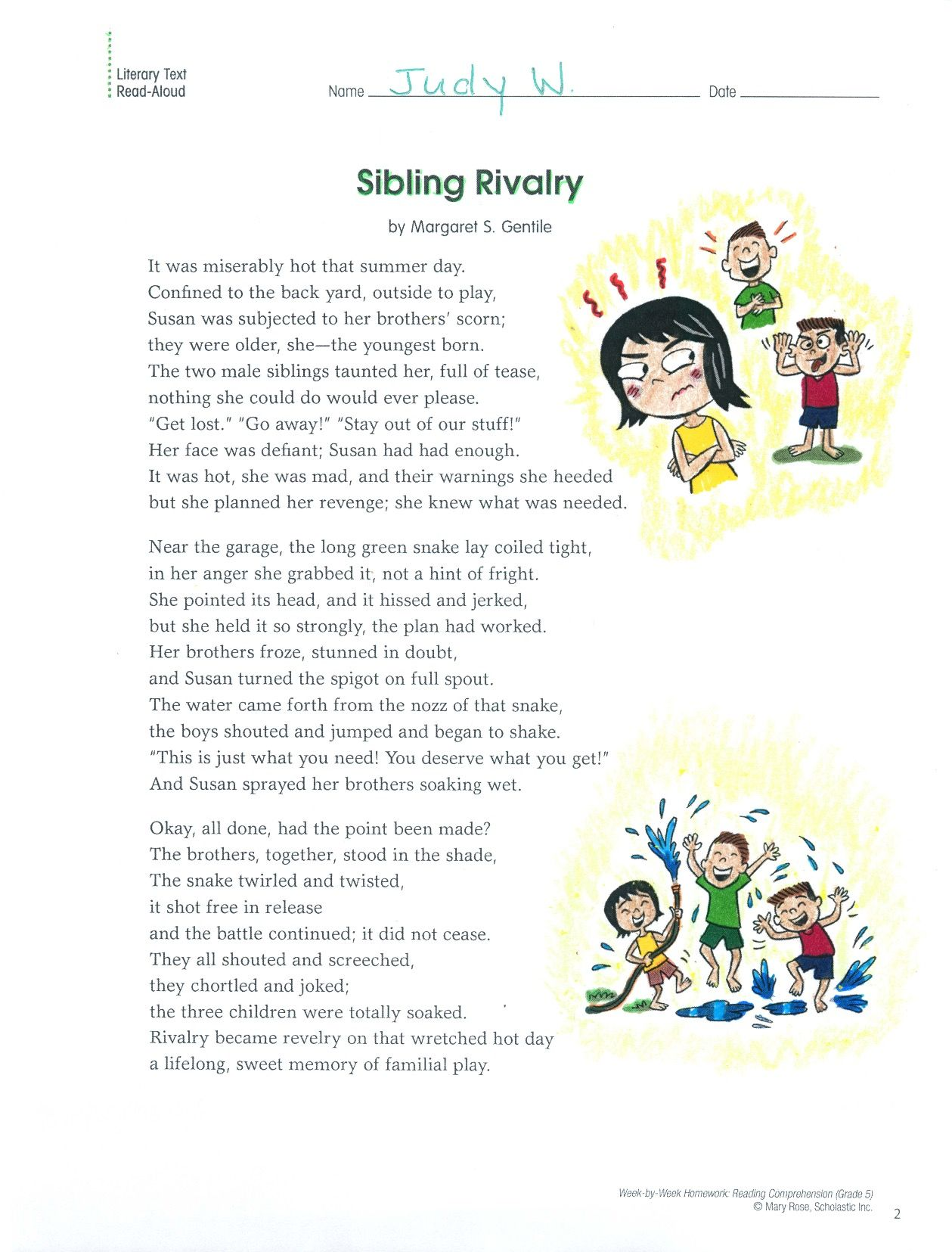 small resolution of This send-home illustrated poem helps kids analyze how visual and  multimedia elements contribute to the meaning